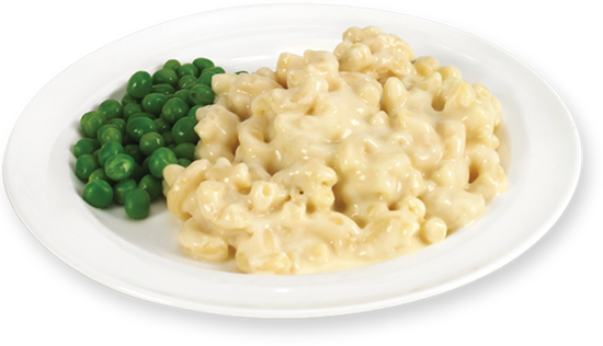 Mac and Cheese with Peas