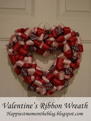 Valentine Ribbon Wreath
