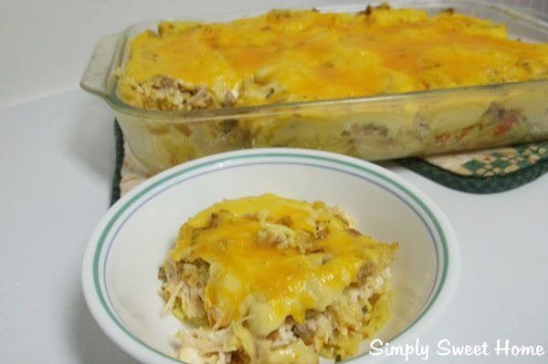 Chicken Stuffing &amp; Vegetable Rice Casserole