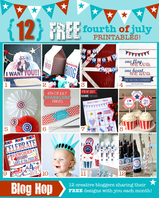 12 4th of July Printables