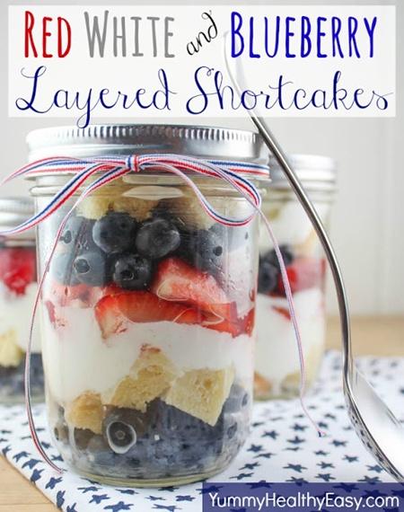 Layered Strawberry Shortcakes