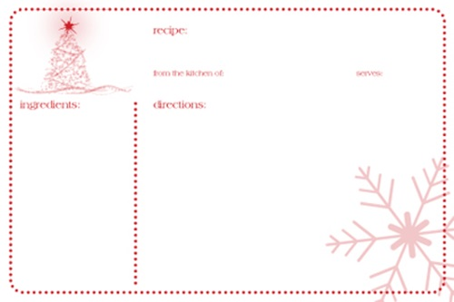 FREE Printable Holiday Tags Recipe Cards More