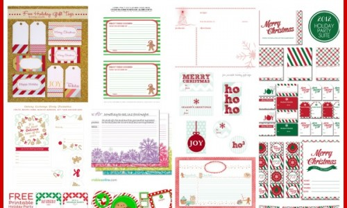 Printable Holiday Tags