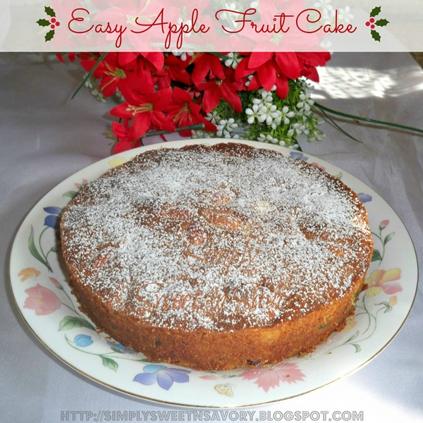 Easy Apple Fruit Cake 1