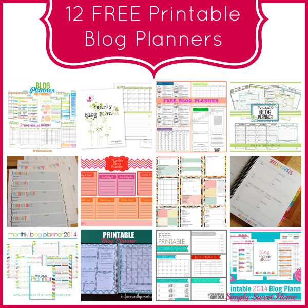 graphic about Printables Blog named 12 Cost-free Printable Weblog Planners - Conveniently Lovable Dwelling