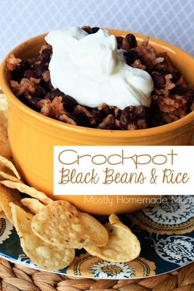 Crock Pot Black Beans and Rice