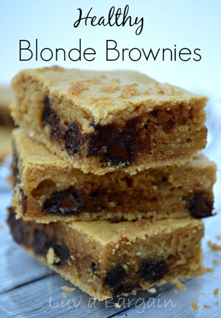 Healthy Blonde Brownies