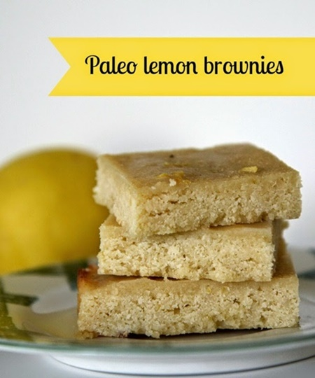 Paleo Lemon Brownies