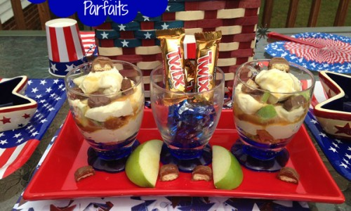 Caramel Apple Twix Parfaits