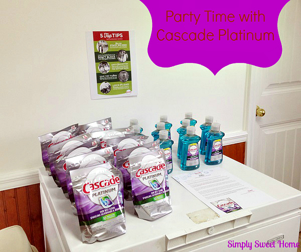 party time clean up with cascade