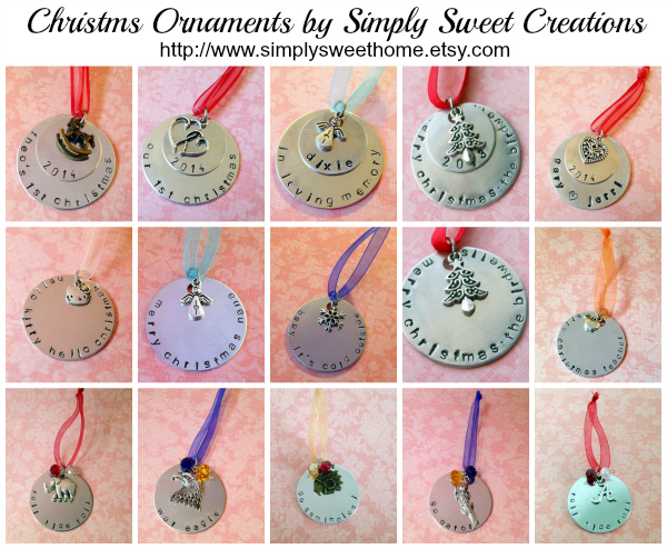 Christmas Ornament Collage for Blog