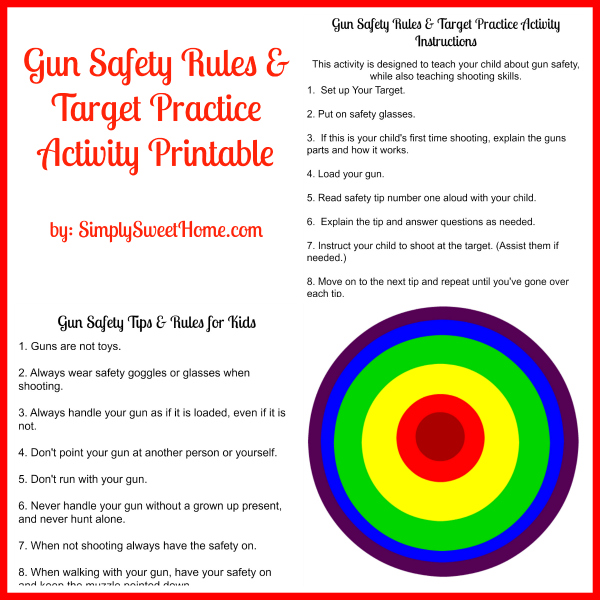 Gutsy image pertaining to printable gun safety rules