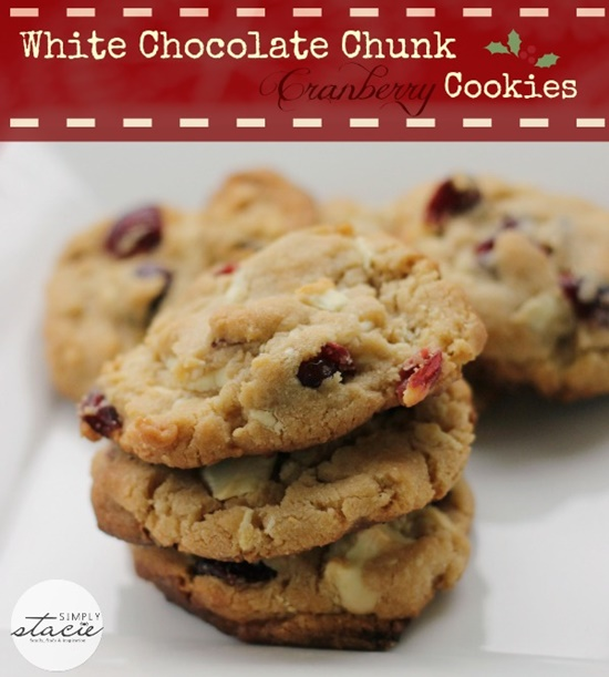 White Chocolate Chunk Cranberry Cookies from Simply Stacie