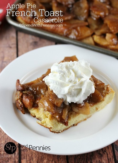 Apple Pie French Toast Casserole from Spend with Pennies