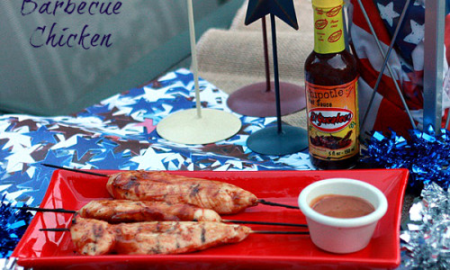 Grilled Barbecue Chicken Tenders