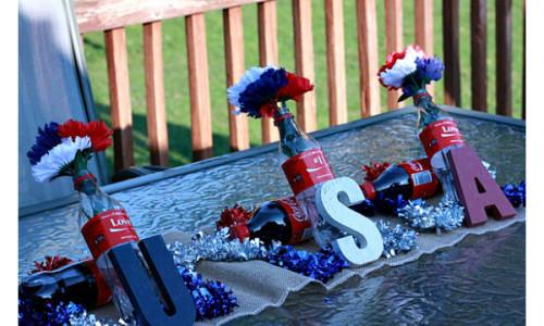 Patriotic Coke-Inspired Table Decor