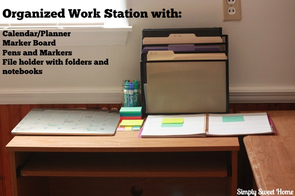 Creating An Organized Work Station For Mom Simply Sweet Home