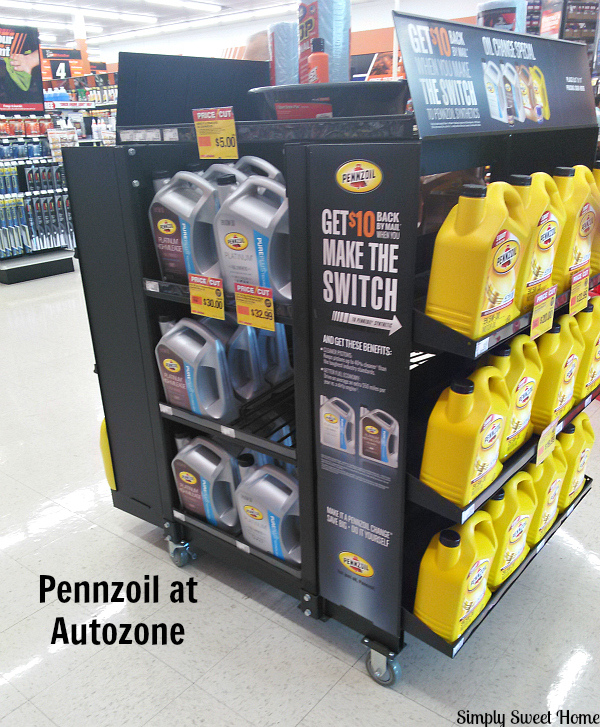 Diy oil change with pennzoil simply sweet home visit your local autozone or other retailer to pick up your oil and filter i found my pennzoil platinum full synthetic motor oil on a special display at solutioingenieria Choice Image