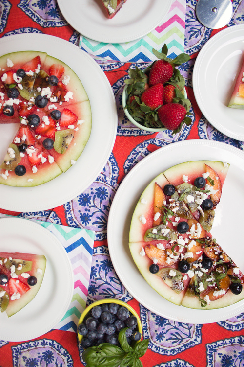 Watermelon Pizzas