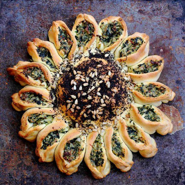 spinach artichoke pullapart bread